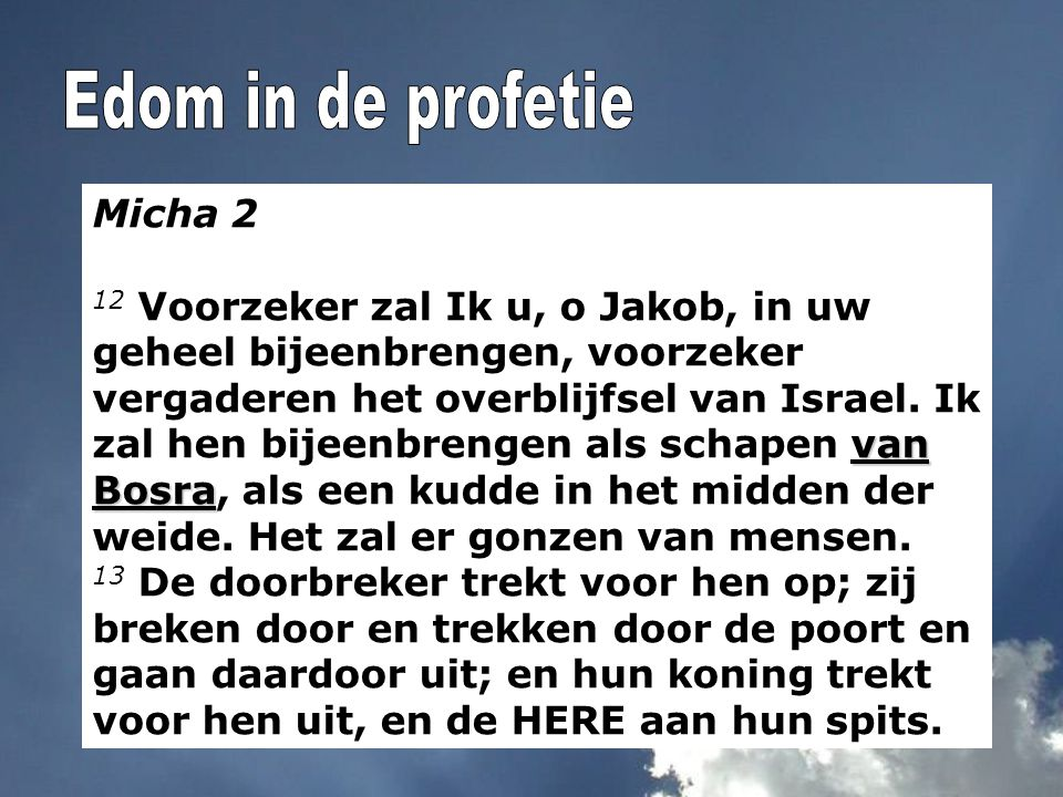 Edom in de profetie Micha 2