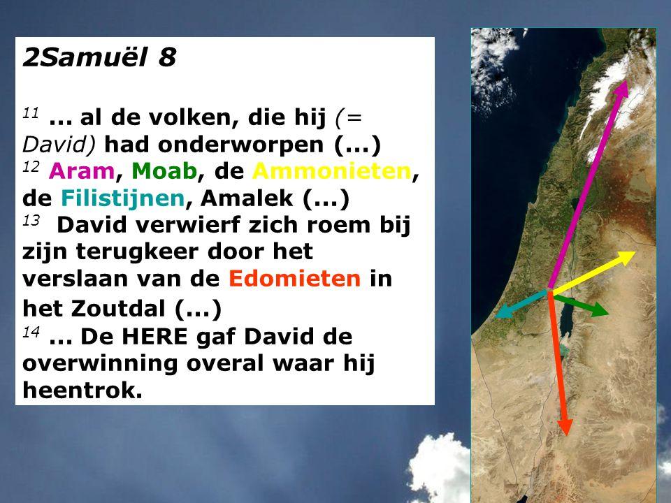 2Samuël 8 11 ... al de volken, die hij (= David) had onderworpen (...)