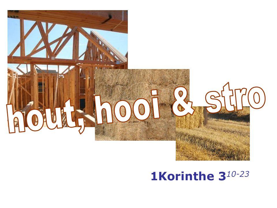 hout, hooi & stro 1Korinthe 310-23