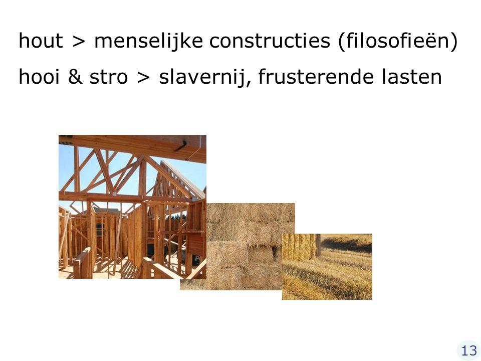 hout > menselijke constructies (filosofieën)