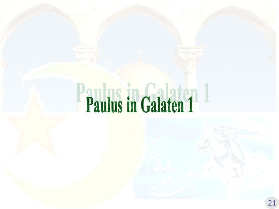 Paulus in Galaten 1 21