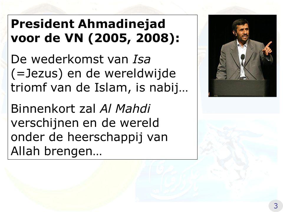 President Ahmadinejad voor de VN (2005, 2008):
