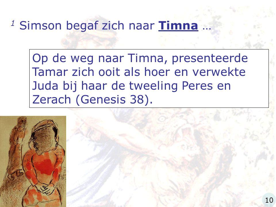1 Simson begaf zich naar Timna …