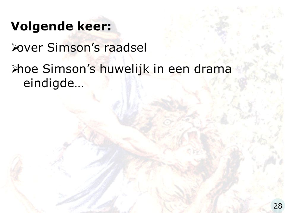 hoe Simson's huwelijk in een drama eindigde…