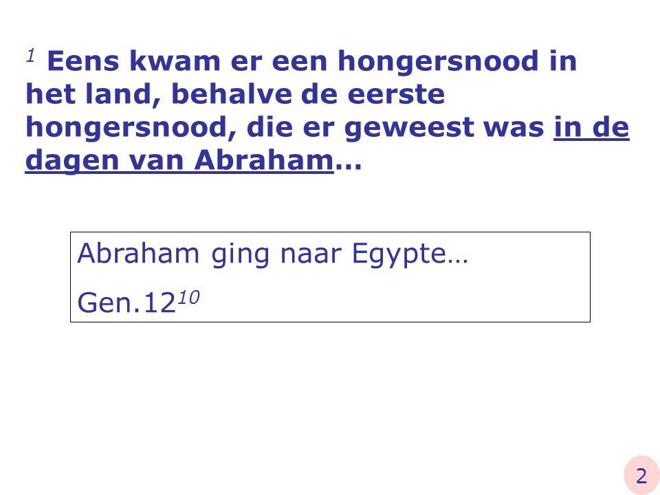 Abraham ging naar Egypte… Gen.1210