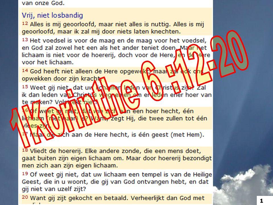 1Korinthe 6 :12-20 1
