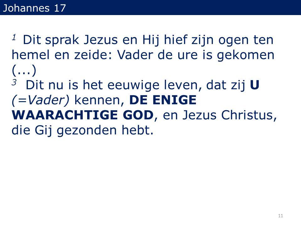 Johannes 17 1 Dit sprak Jezus en Hij hief zijn ogen ten hemel en zeide: Vader de ure is gekomen (...)