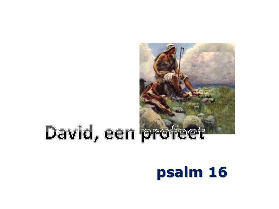 David, een profeet psalm 16