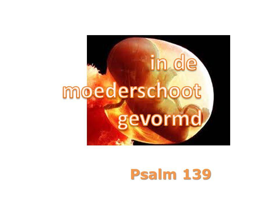 in de moederschoot gevormd Psalm 139