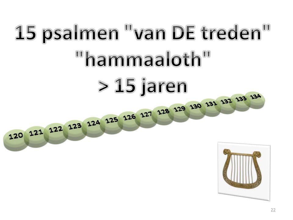 15 psalmen van DE treden hammaaloth > 15 jaren