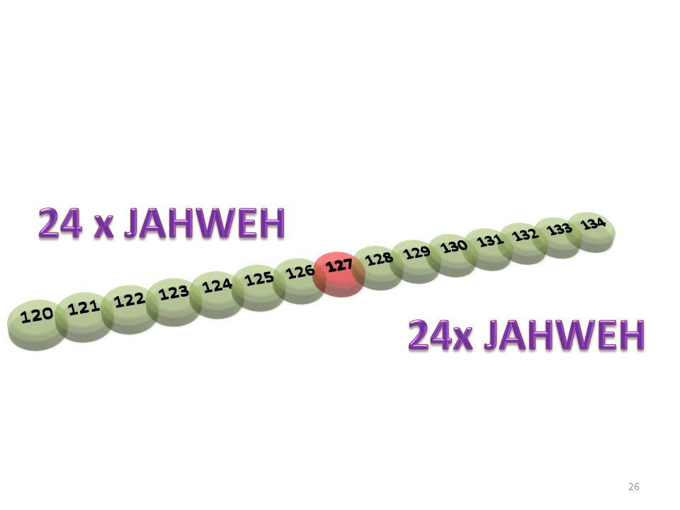 120 121 122 123 124 125 126 127 128 129 130 131 132 133 134 24 x JAHWEH 24x JAHWEH