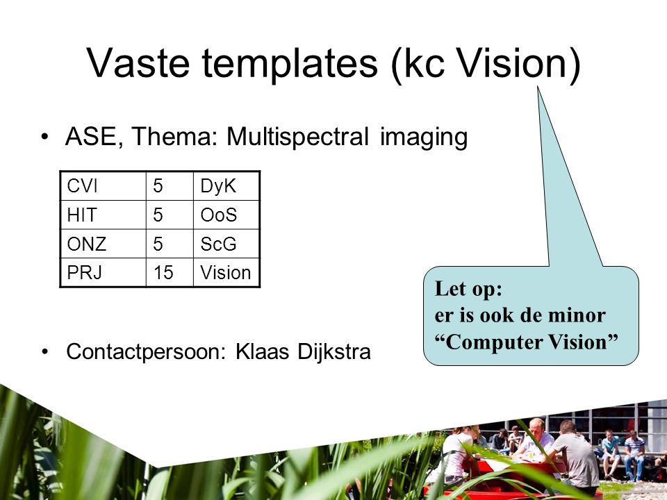 Vaste templates (kc Vision)