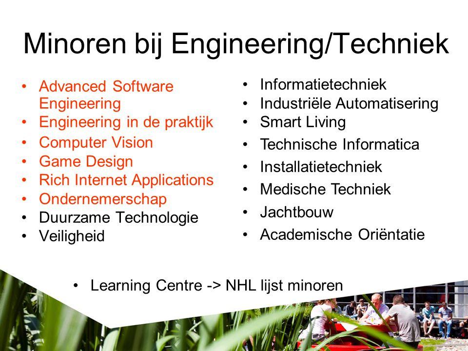 Minoren bij Engineering/Techniek