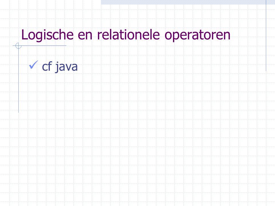 Logische en relationele operatoren