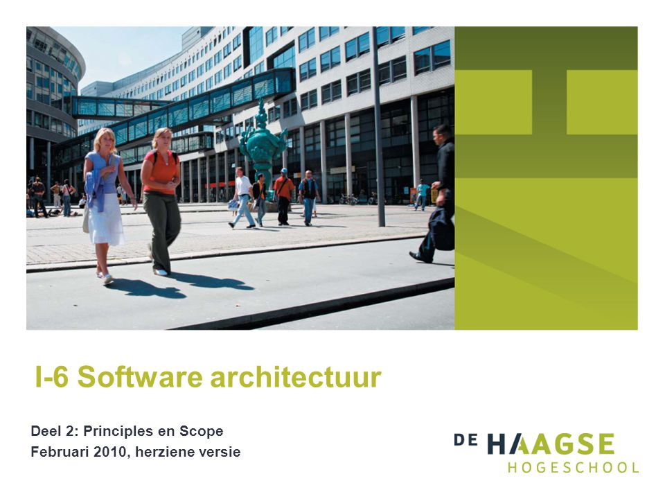 I-6 Software architectuur