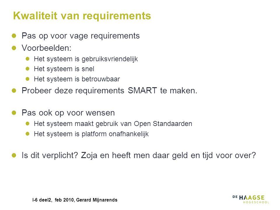 Kwaliteit van requirements