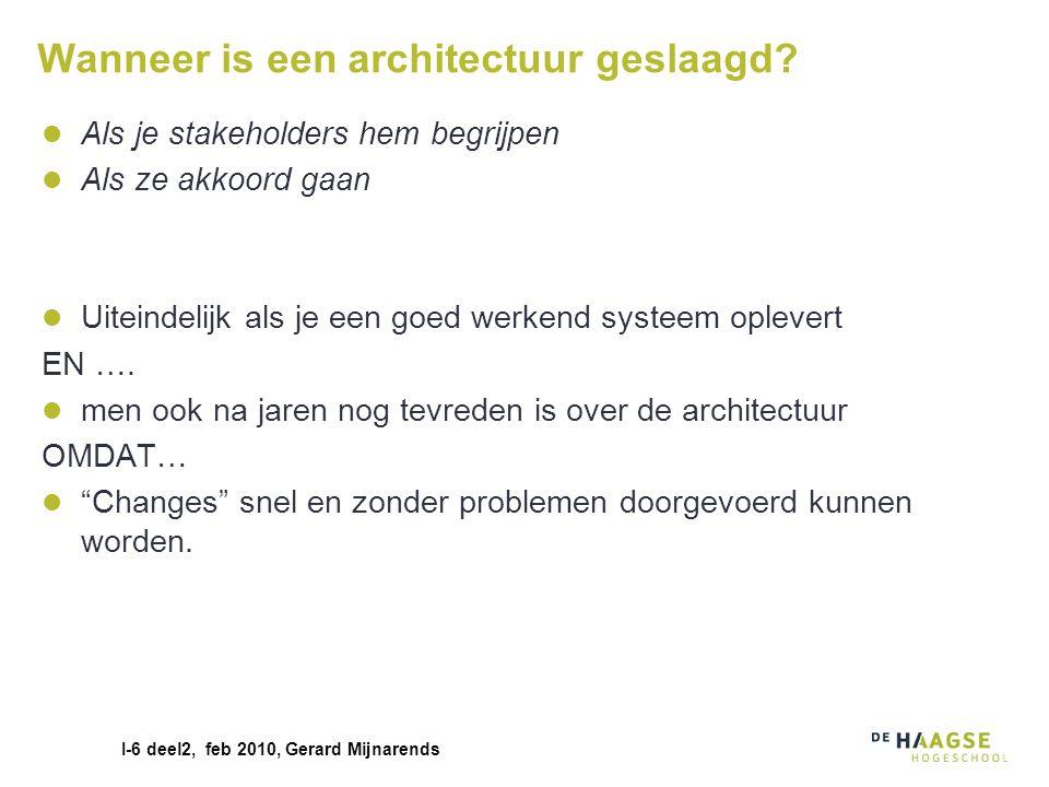 Wanneer is een architectuur geslaagd