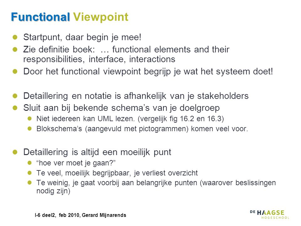 Functional Viewpoint Startpunt, daar begin je mee!