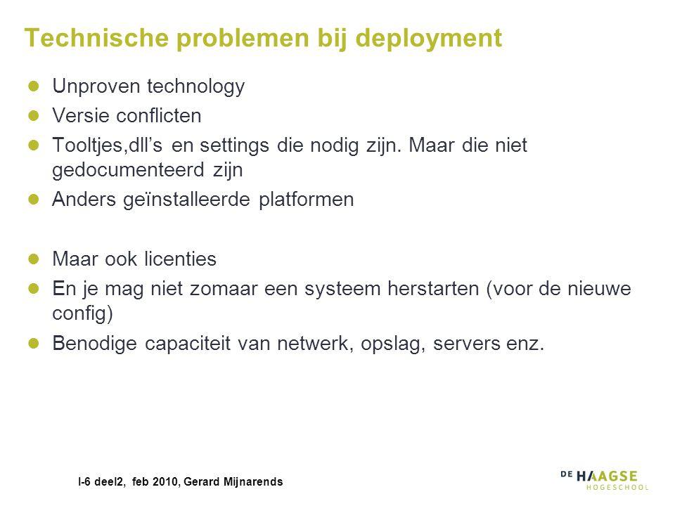 Technische problemen bij deployment