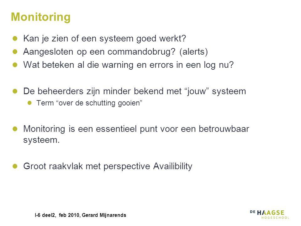 Monitoring Kan je zien of een systeem goed werkt