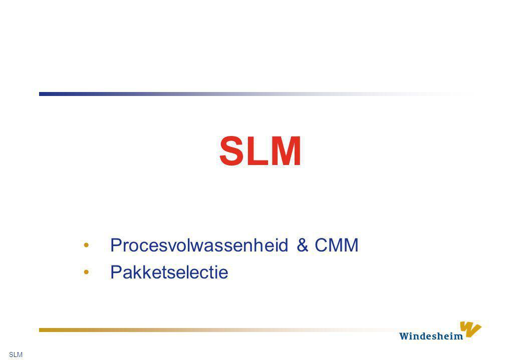 Procesvolwassenheid & CMM Pakketselectie
