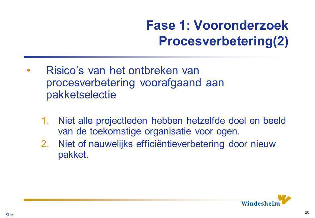 Fase 1: Vooronderzoek Procesverbetering(2)