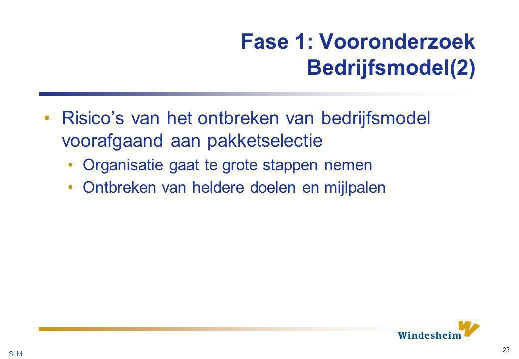 Fase 1: Vooronderzoek Bedrijfsmodel(2)