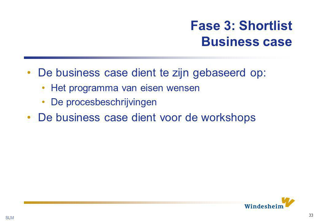 Fase 3: Shortlist Business case