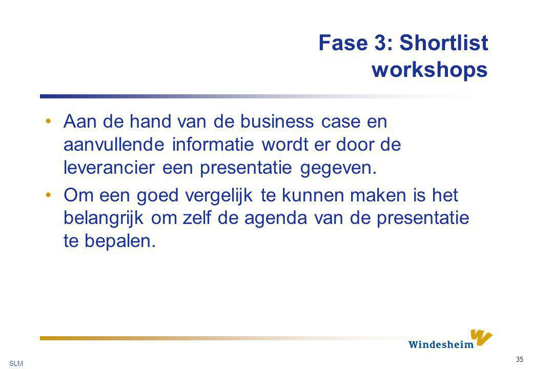 Fase 3: Shortlist workshops