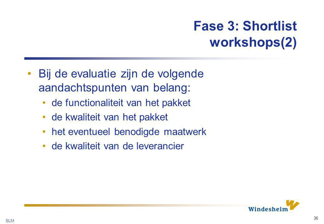 Fase 3: Shortlist workshops(2)