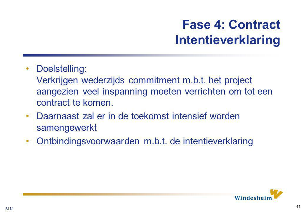 Fase 4: Contract Intentieverklaring