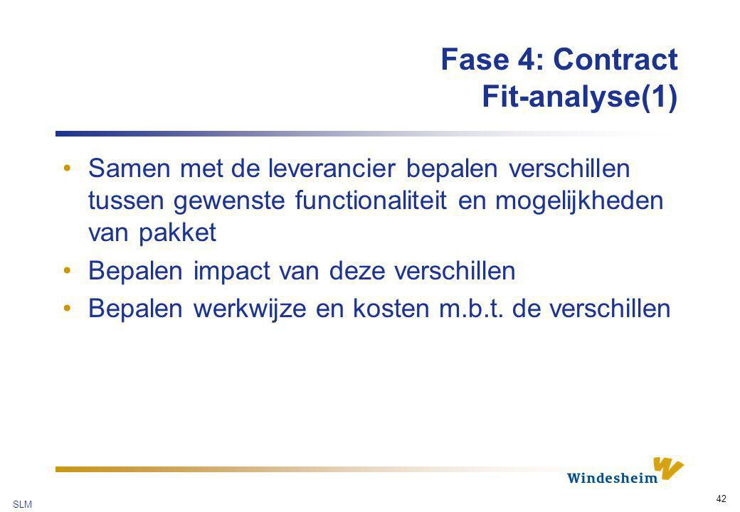 Fase 4: Contract Fit-analyse(1)