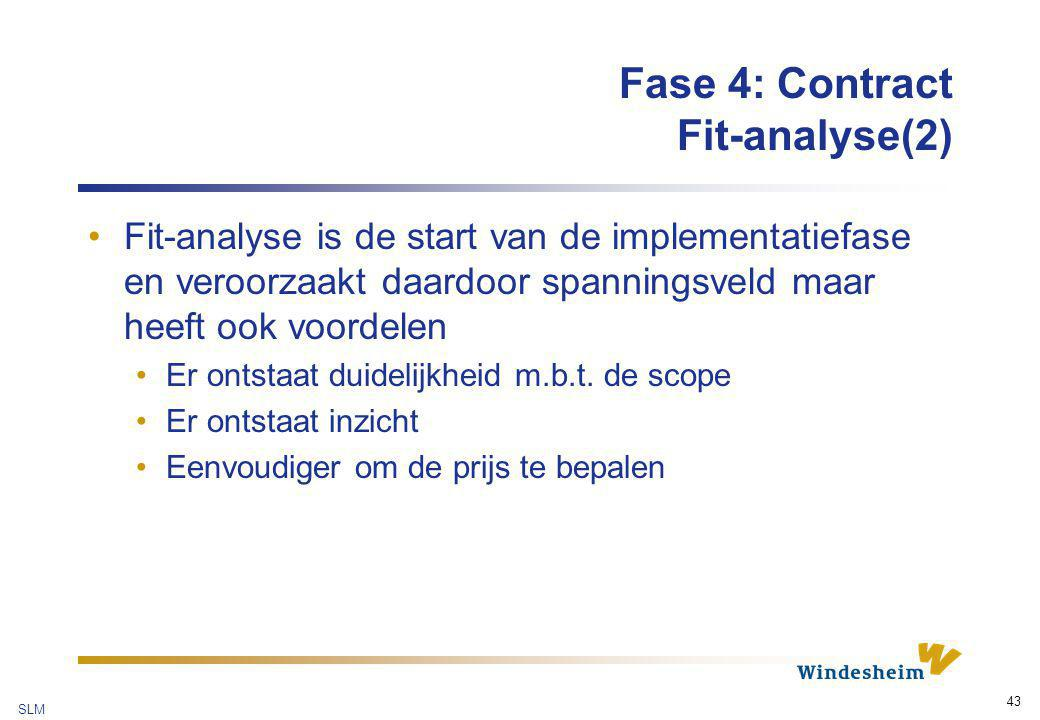 Fase 4: Contract Fit-analyse(2)