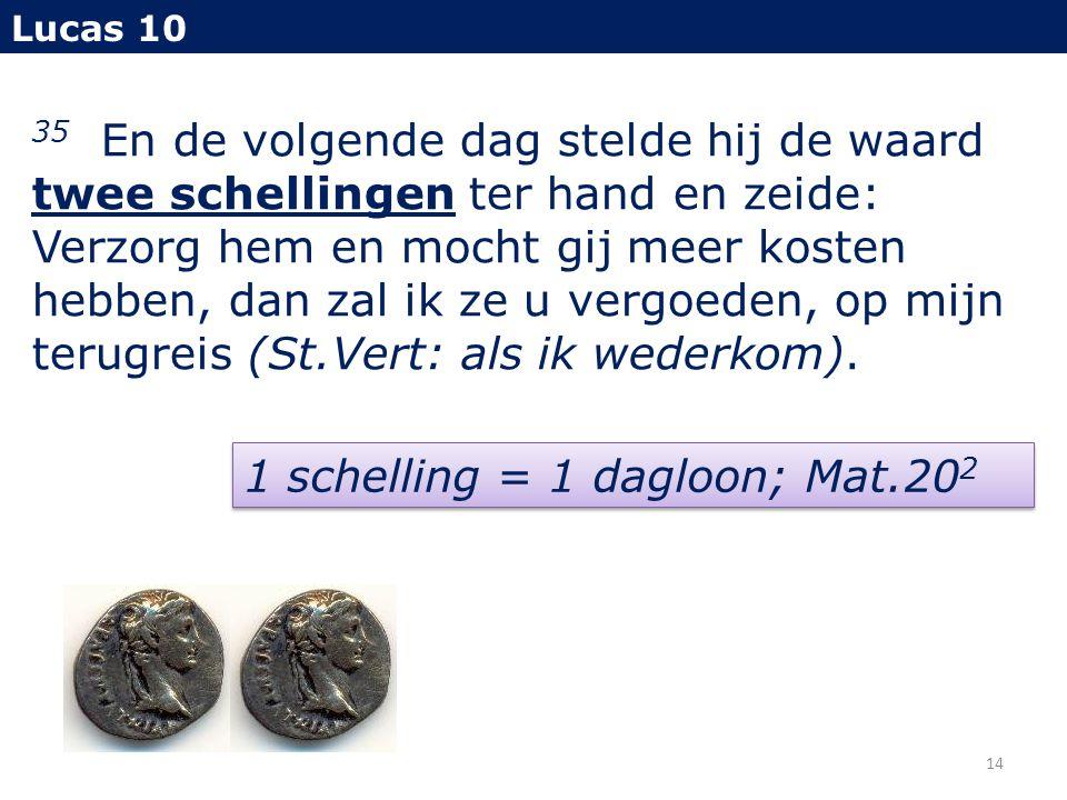 1 schelling = 1 dagloon; Mat.202
