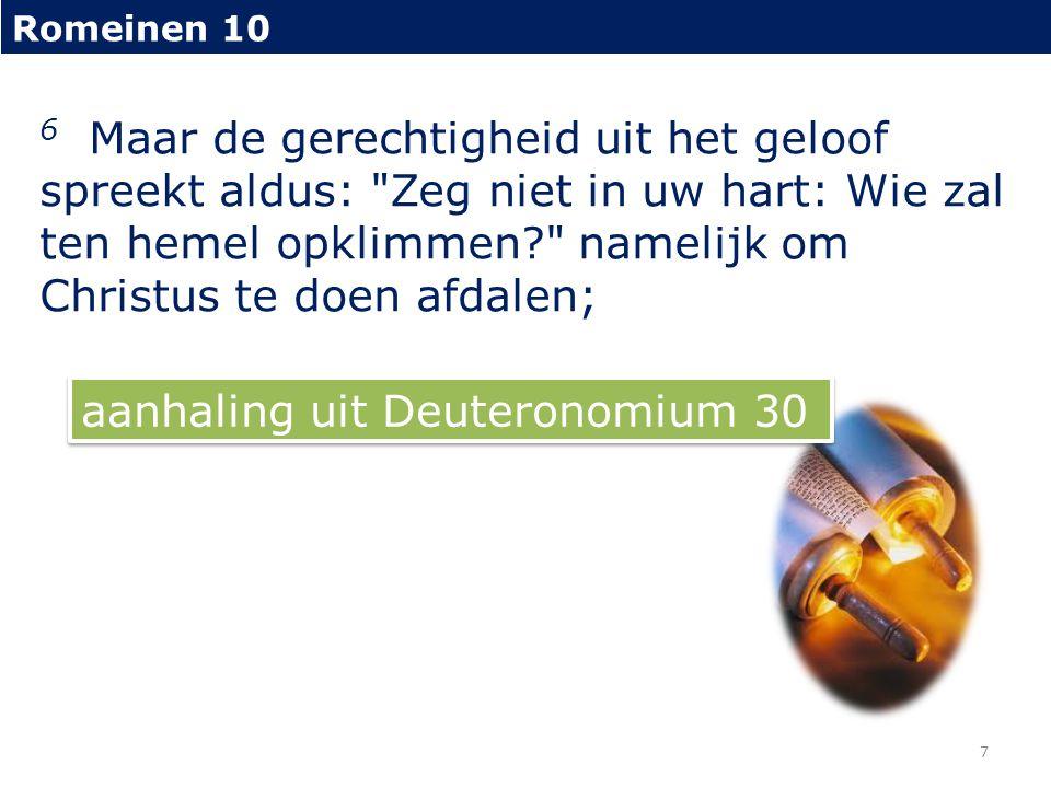 aanhaling uit Deuteronomium 30