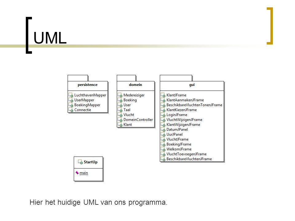 UML Stijn Hier het huidige UML van ons programma.