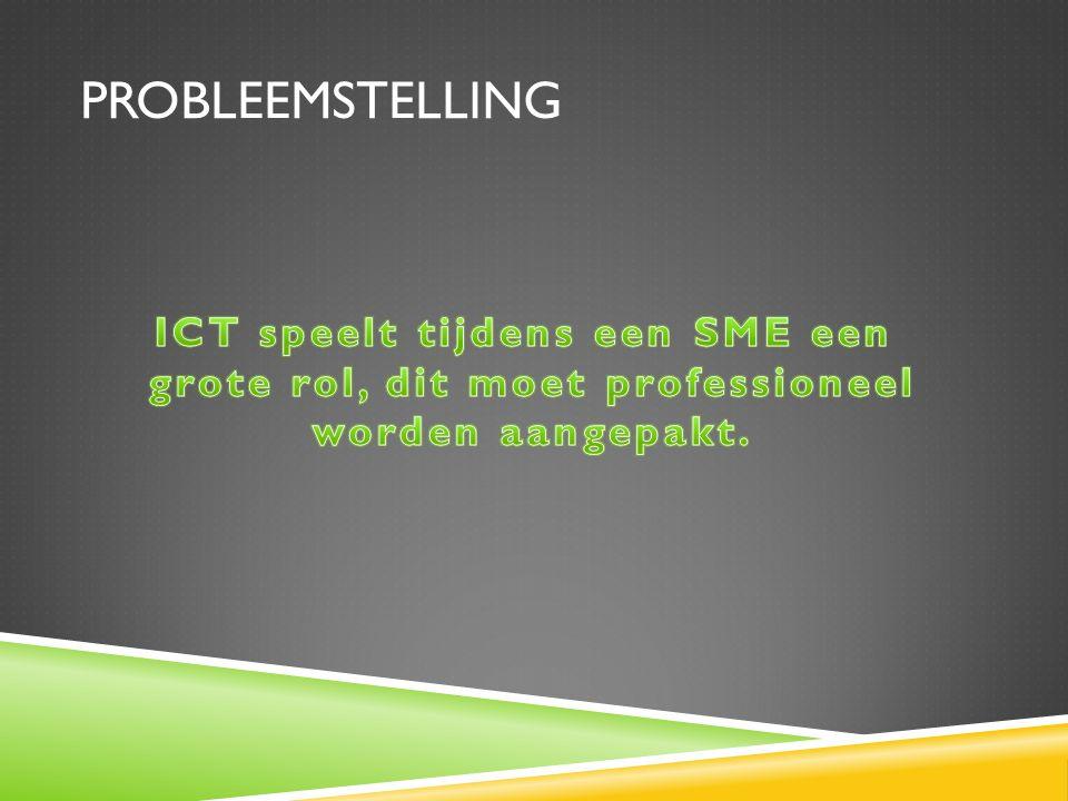 ICT speelt tijdens een SME een grote rol, dit moet professioneel