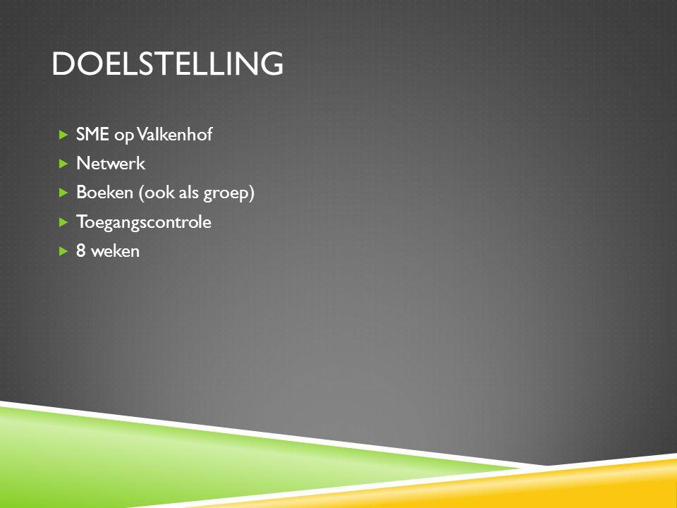 Doelstelling SME op Valkenhof Netwerk Boeken (ook als groep)