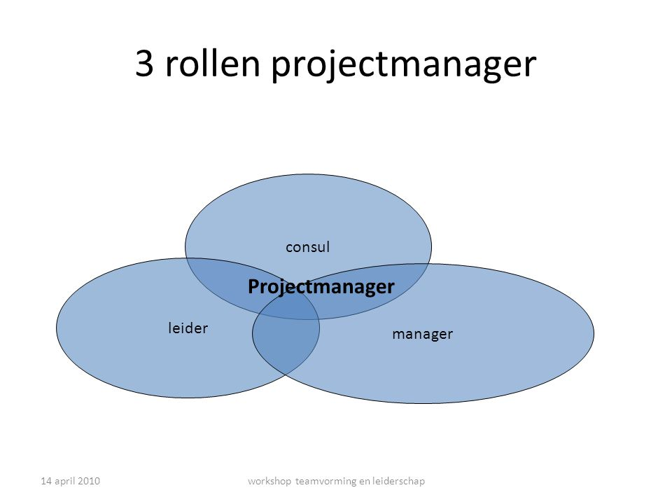 3 rollen projectmanager