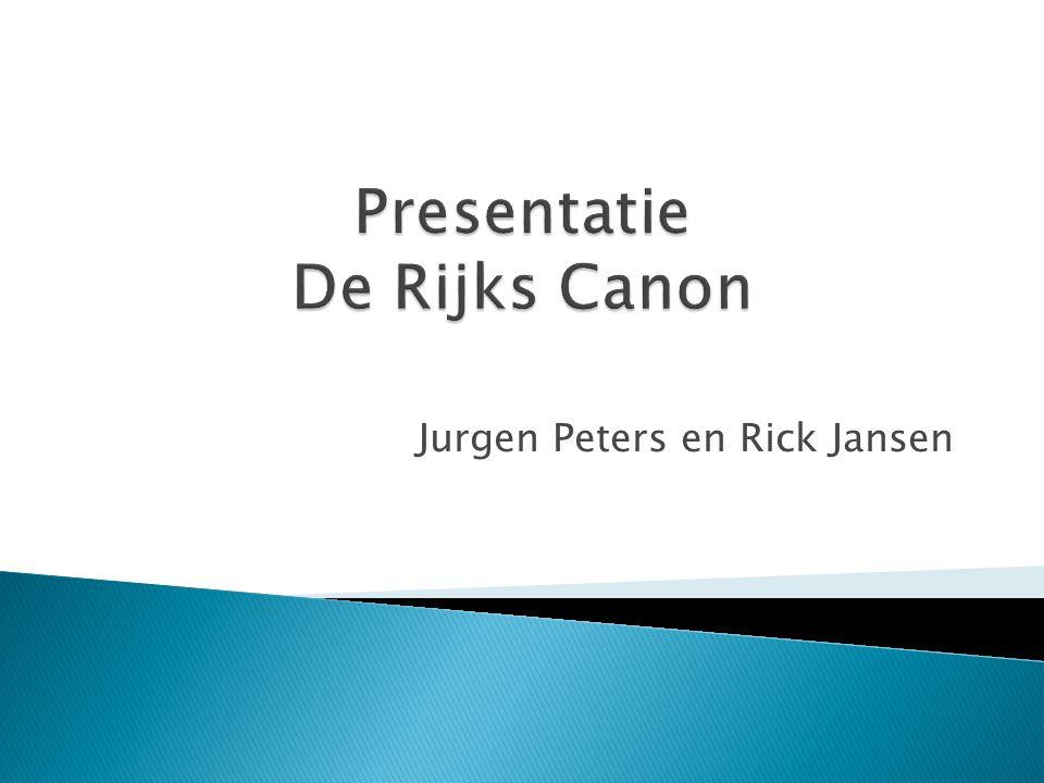 Presentatie De Rijks Canon