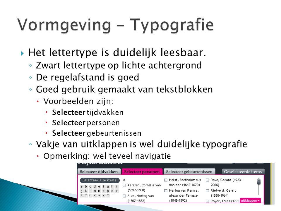 Vormgeving - Typografie