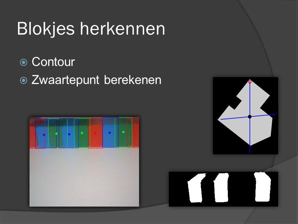 Blokjes herkennen Contour Zwaartepunt berekenen