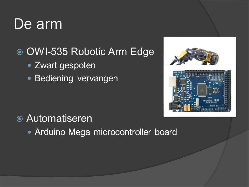 De arm OWI-535 Robotic Arm Edge Automatiseren Zwart gespoten
