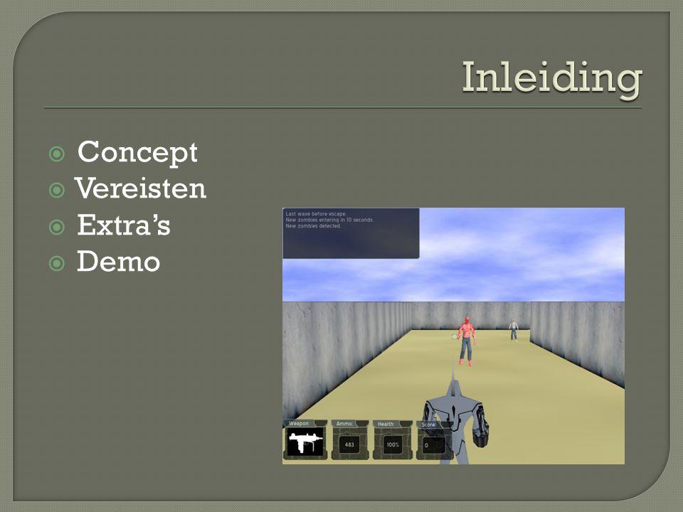 Inleiding Concept Vereisten Extra's Demo