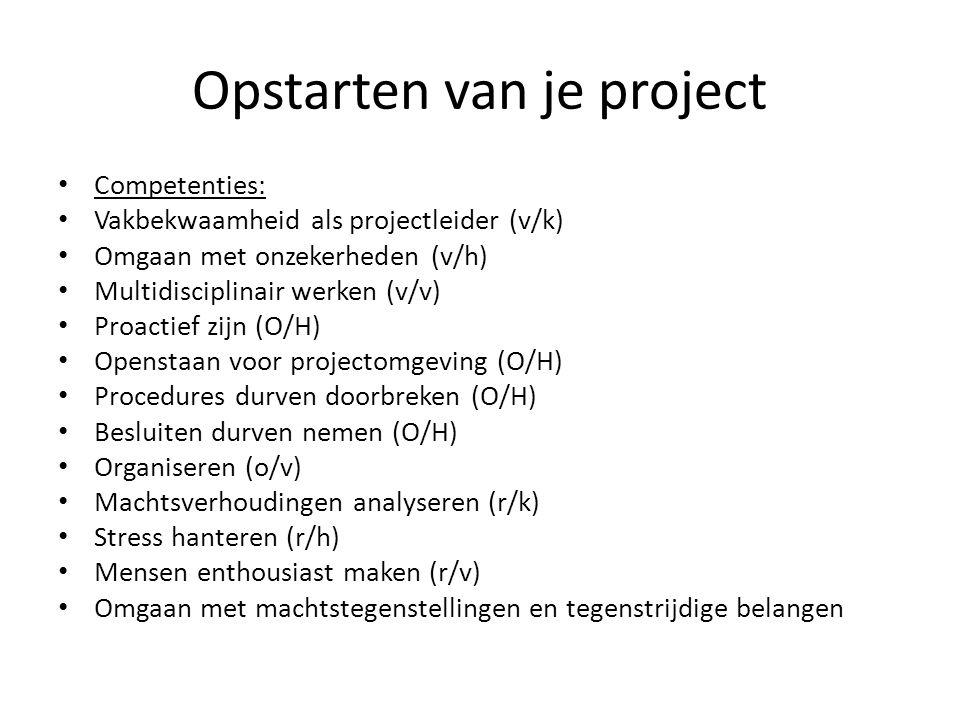 Opstarten van je project
