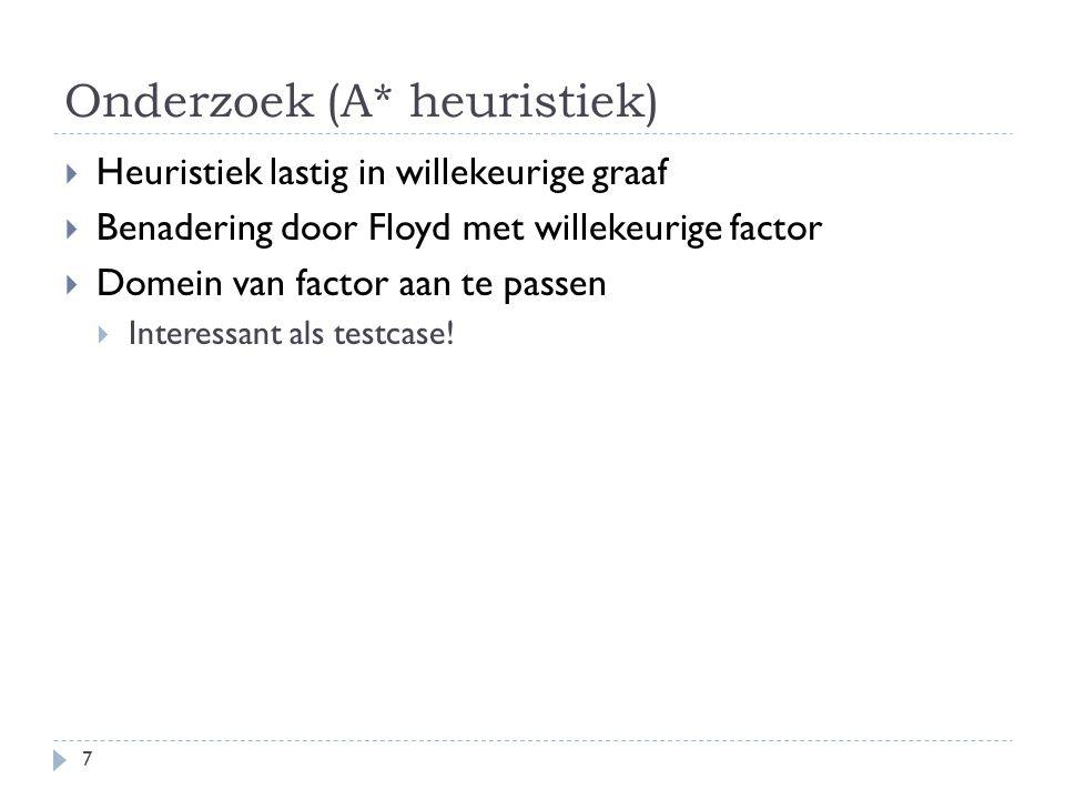 Onderzoek (A* heuristiek)