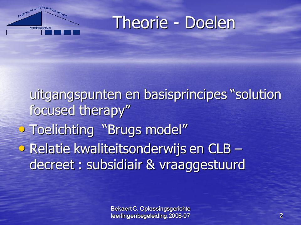 Bekaert C. Oplossingsgerichte leerlingenbegeleiding.2006-07