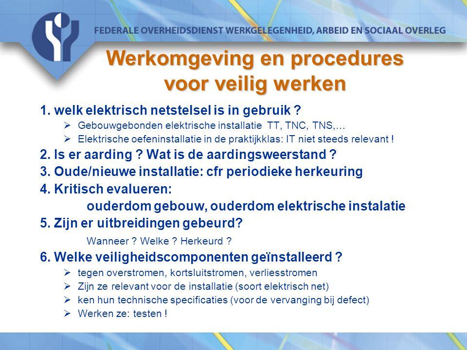 Werkomgeving en procedures voor veilig werken