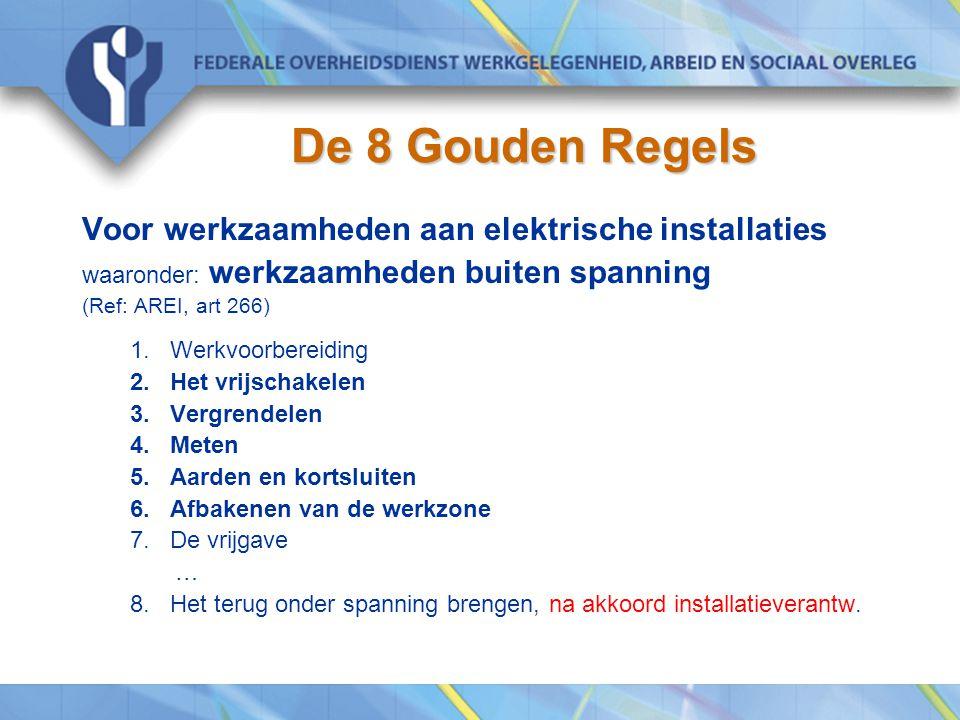 De 8 Gouden Regels Voor werkzaamheden aan elektrische installaties