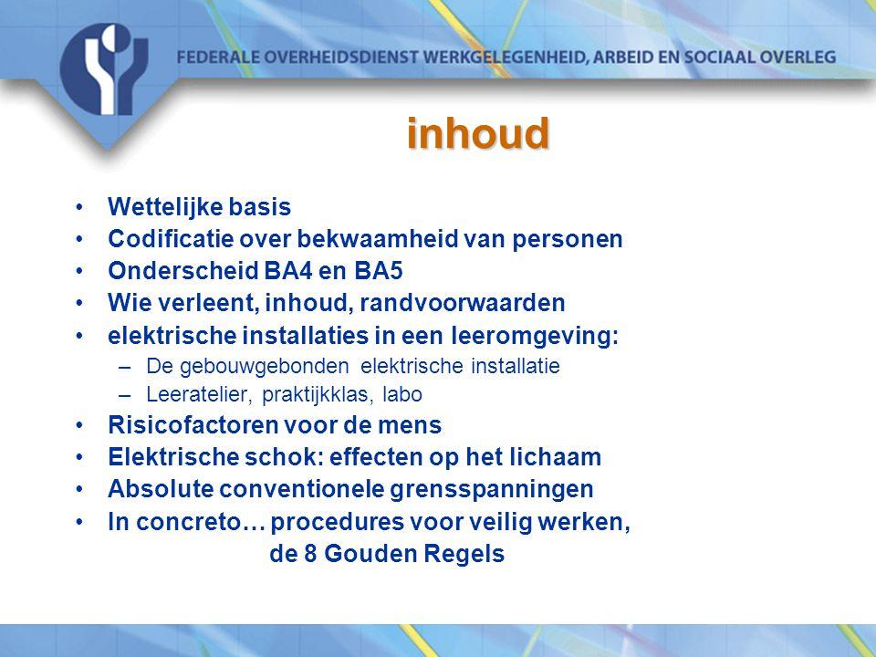 inhoud Wettelijke basis Codificatie over bekwaamheid van personen
